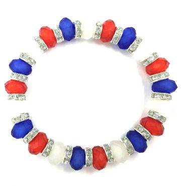 Sparkling acrylic faceted rondelle beaded bracelets - make your own jewellery kit - 25 Pieces £0.80 Each